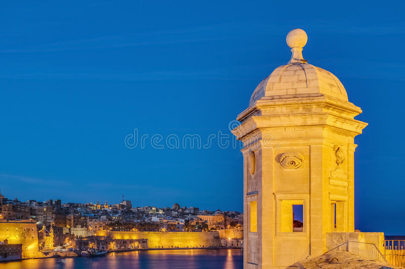 Fort St Michael i Senglea, Malta royaltyfria bilder