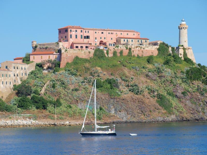 Fort Stella, Portoferraio, Elba, Italien arkivfoto