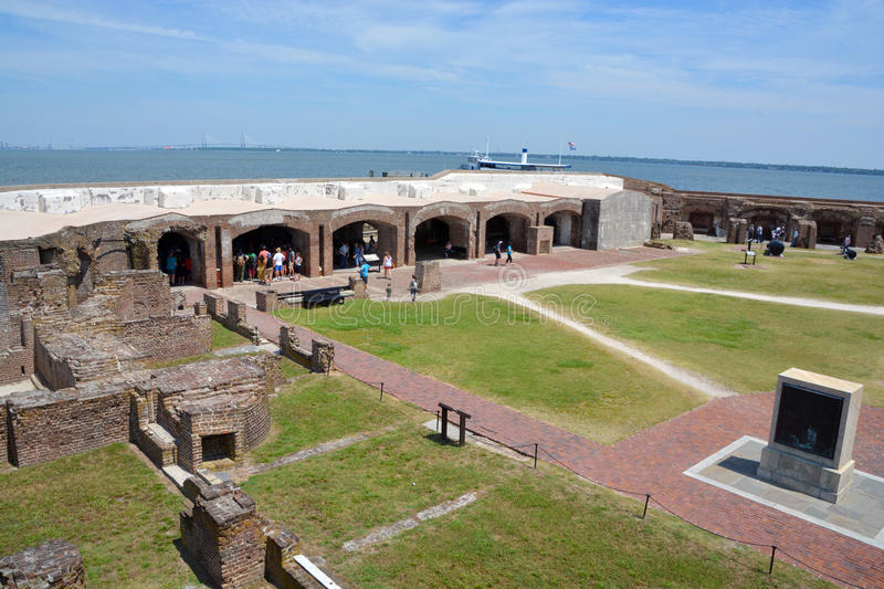 Fort Sumter. CHARLESTON SC 06 25 2016: Fort Sumter is a sea fort in Charleston notable for 2 battles of the American Civil War. was one of a number of many royalty free stock photo