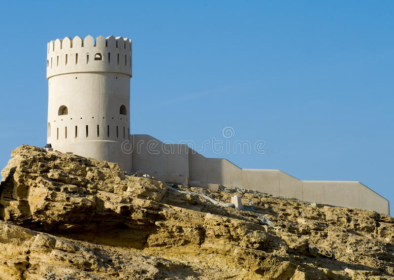 Fort in Sur in the Sultanate of Oman royalty free stock image