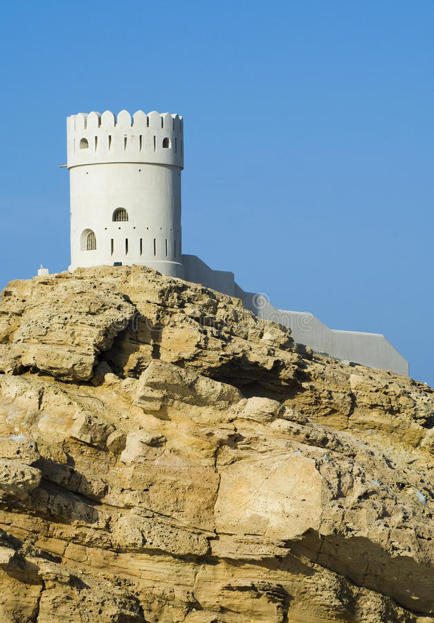 Fort in Sur in the Sultanate of Oman stock images