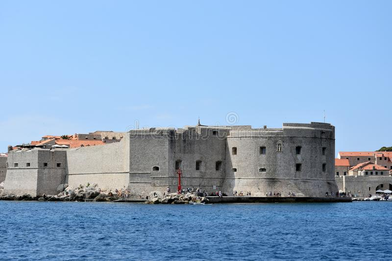Fort SV Ivan dans Dubrovnik images libres de droits