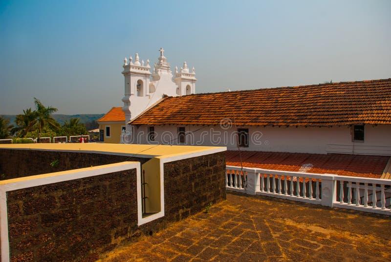 Fort Tiracol goa Indien stockfotografie