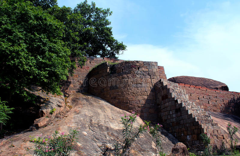 Fort of tirumayam stock photography