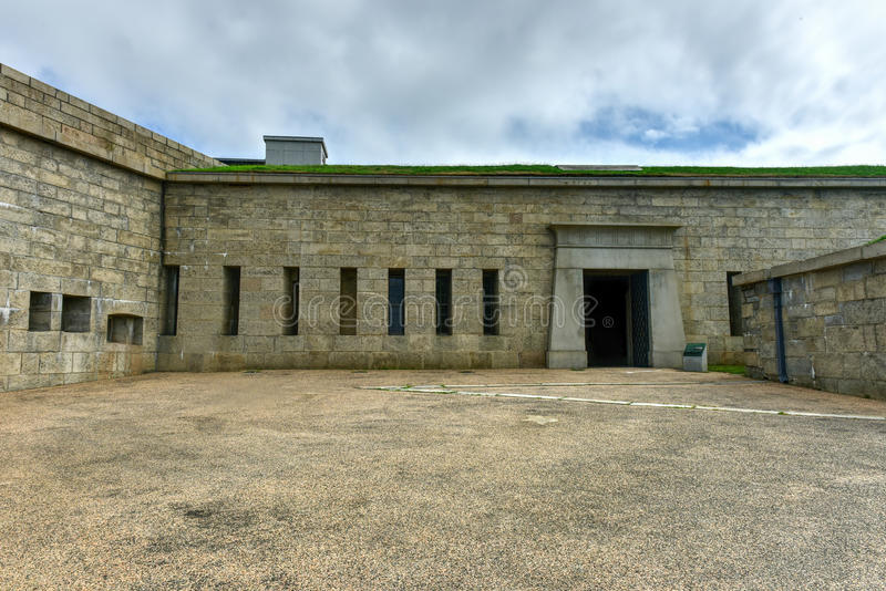 Fort Trumbull - neues London, Connecticut stockfotos