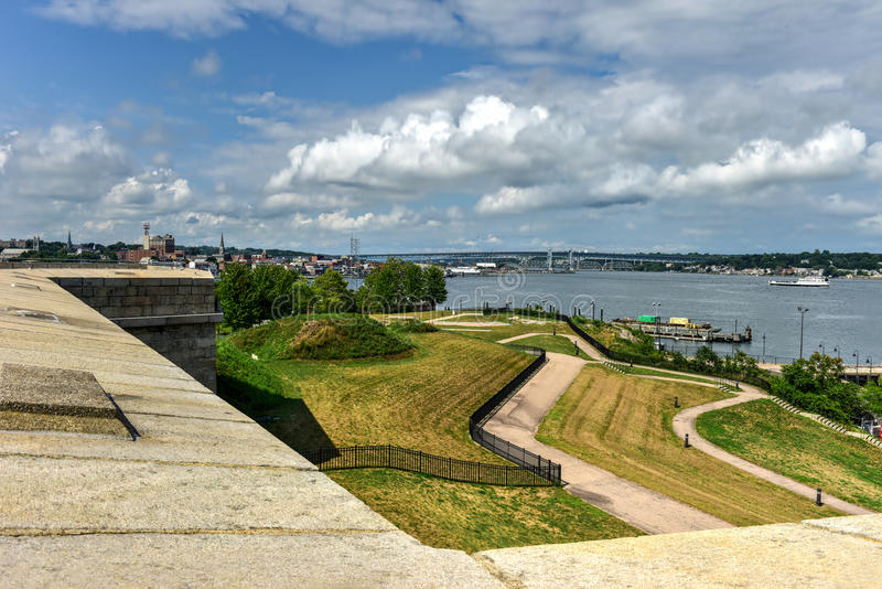 Fort Trumbull - neues London, Connecticut lizenzfreie stockfotografie