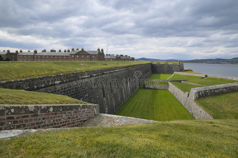 fort twierdzy George Scotland fotografia royalty free