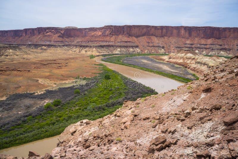 Fort-Unterseiten-Hinterweiß Rim Road Utah stockbild