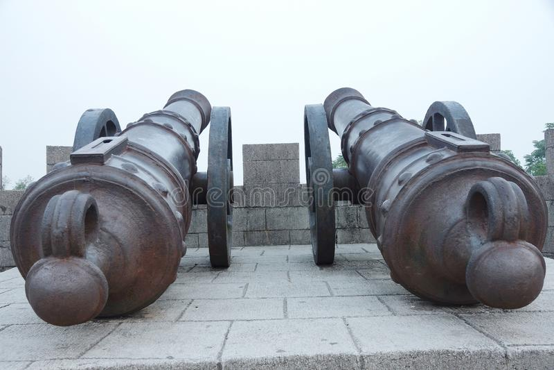Fort van het guangxi het mengshan westen van China van het taiping hemelse grote het ijzerkanon van de koninkrijksperiode stock foto