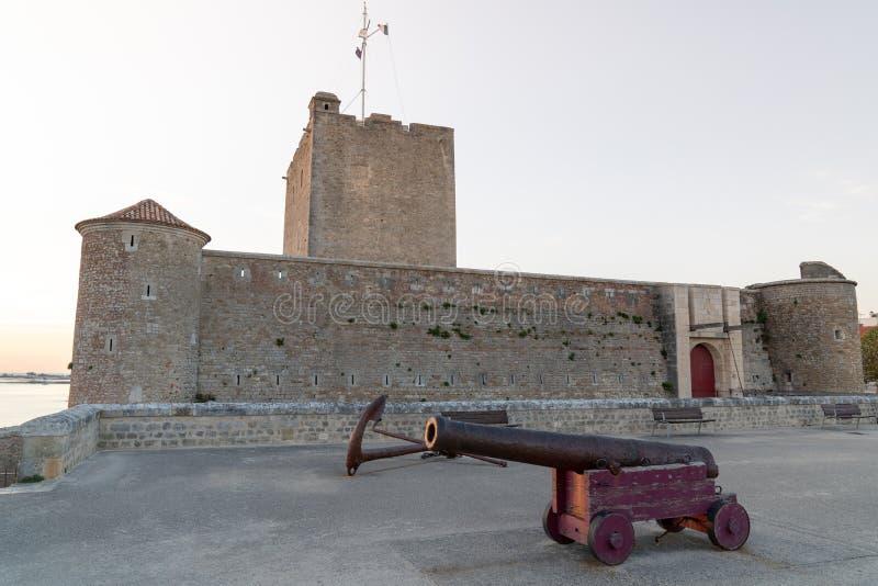 Fort Vauban de Fouras avec une arme ancienne en Charente Maritime en France images stock