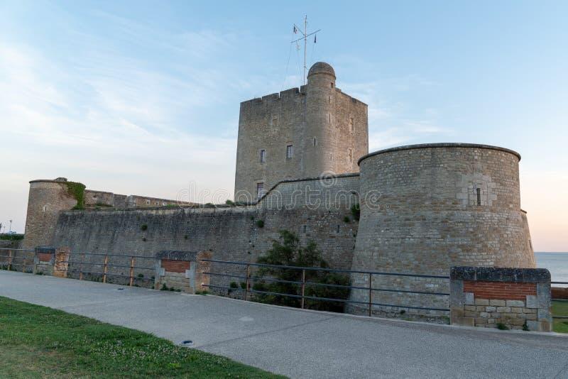 Fort Vauban of Fouras in sun in Charente France. The Fort Vauban of Fouras in sun in Charente France royalty free stock photos