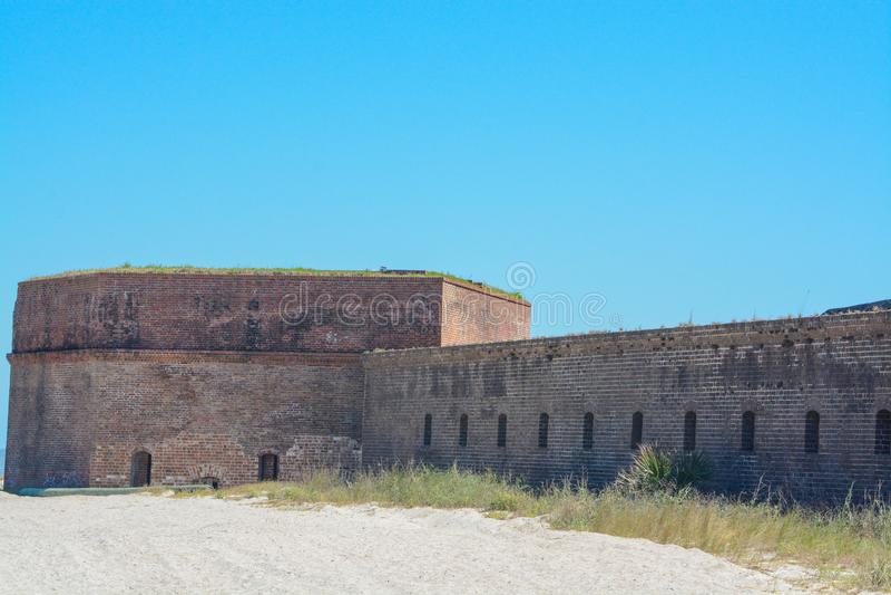 Fort-Vernietungs-Nationalpark an Fernandina-Strand in Nassau County, Florida USA lizenzfreie stockfotografie