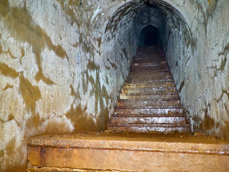 Fort of Vladivostok fortress. In the dungeon of the fort of Vladivostok fortress stock photo
