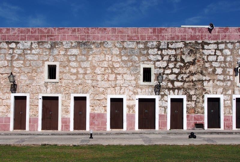 Fort Wall In Havana Cuba Stock Image