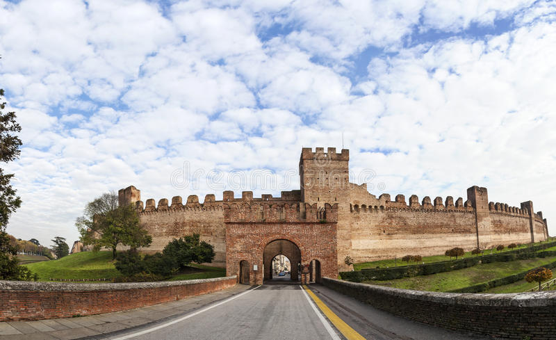 Fort of walled city Cittadella stock photos