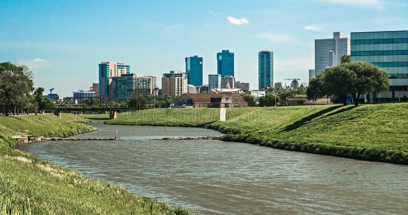 Fort warty Texas miasta śródmieście i linię horyzontu obraz stock