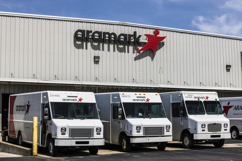 Fort Wayne - Circa April 2017: Aramark Uniforms Services. Aramark is a foodservice, facilities, and uniform services provider III royalty free stock image