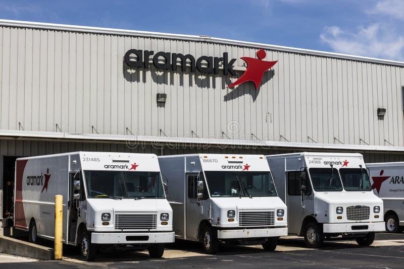 Fort Wayne - circa im April 2017: Aramark-Uniform-Dienstleistungen Aramark ist ein Lebensmitteldienst, Anlagen und einheitlicher  lizenzfreies stockbild