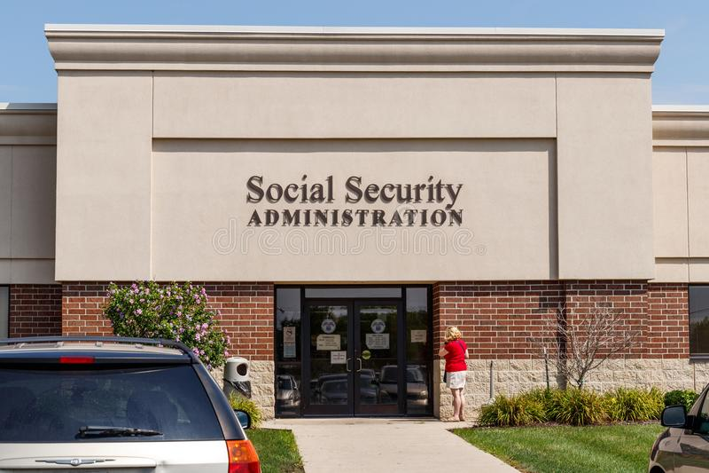 Fort Wayne - circa im August 2018: Lokale Niederlassung der Sozialversicherungsverwaltung Der SSA verwaltet Ruhestand I stockfoto