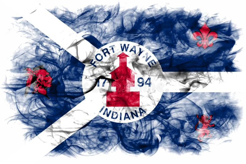 Fort Wayne city smoke flag, Indiana State, United States Of Amer. Ica stock images