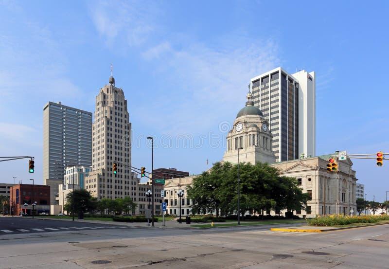 Fort Wayne do centro imagem de stock