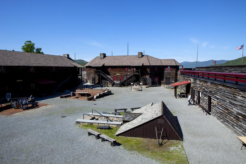 Fort William Henry in New York. The inside of Fort William Henry in Lake George New York royalty free stock images