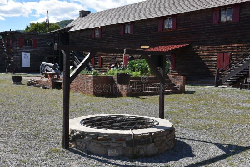 Fort William Henry w Jeziornym George, Nowy Jork fotografia stock