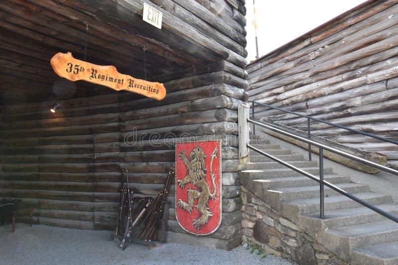 Fort William Henry w Jeziornym George, Nowy Jork obrazy royalty free