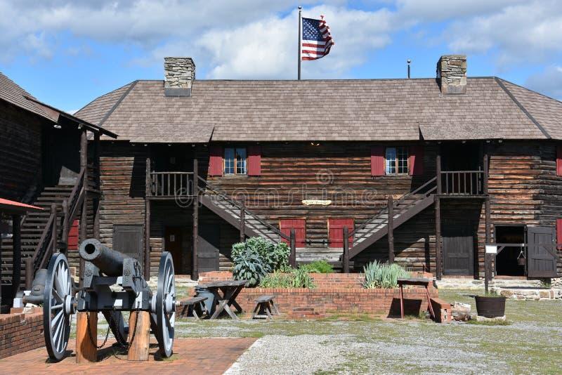 Fort William Henry w Jeziornym George, Nowy Jork obrazy stock