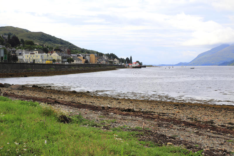 Fort William, Loch Linnhe, scotland. Fort William at banks of Loch Linnhe, scotland stock image