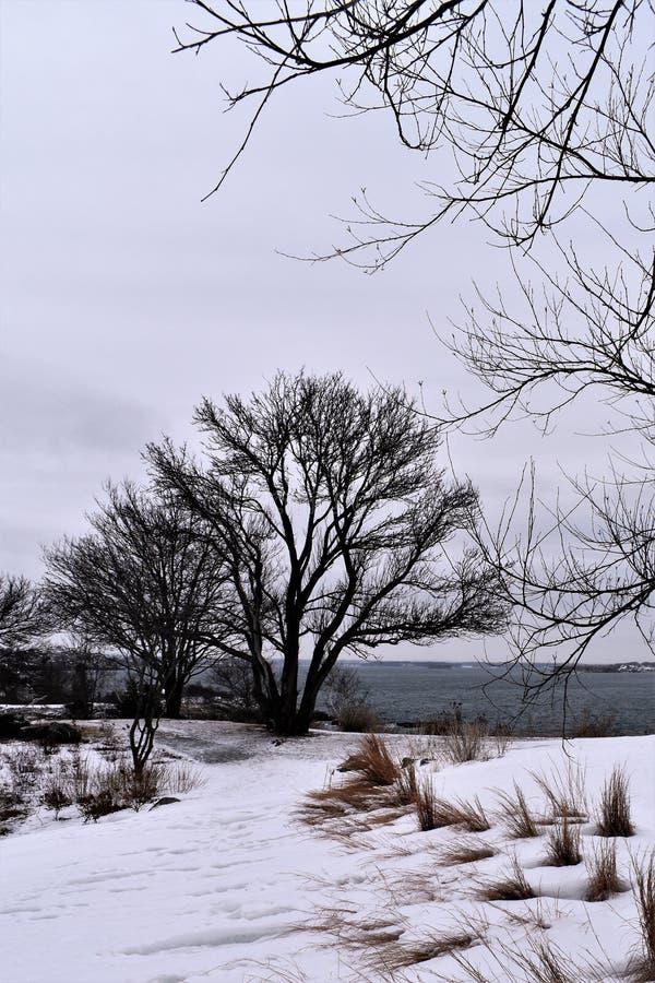 Fort Williams Park, cap Eiizabeth, le comté de Cumberland, Maine, Etats-Unis Nouvelle Angleterre USA photos stock