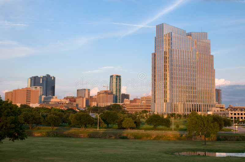 Fort Worth da baixa fotos de stock royalty free