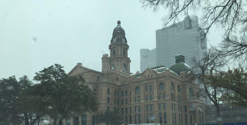Fort Worth gmach sądu Folujący fotografia royalty free