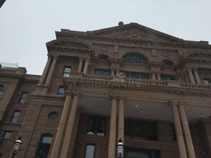 Fort Worth gmachu sądu perspektywa fotografia stock
