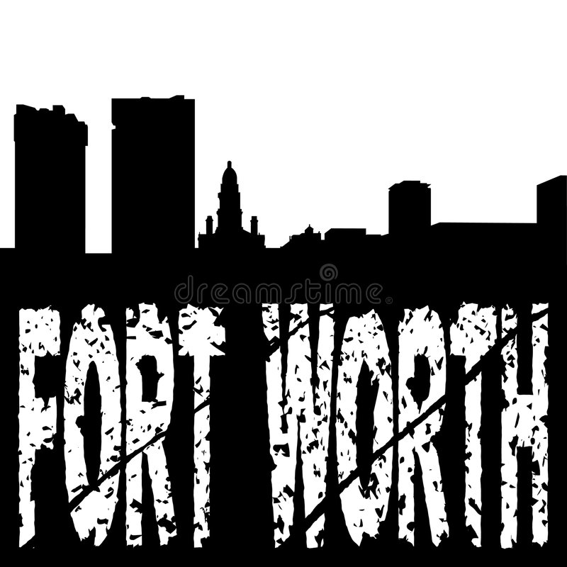 Download Fort Worth Grunge With Skyline Stock Vector - Image: 8080681