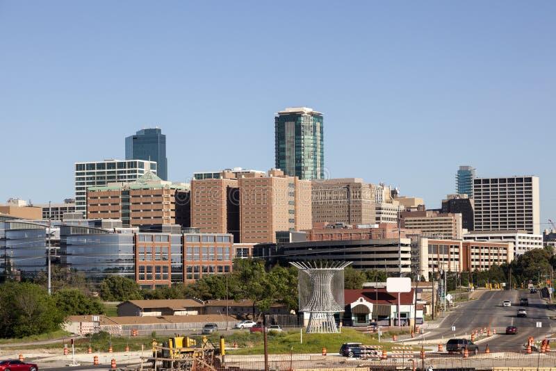 Fort Worth i stadens centrum sikt arkivfoto