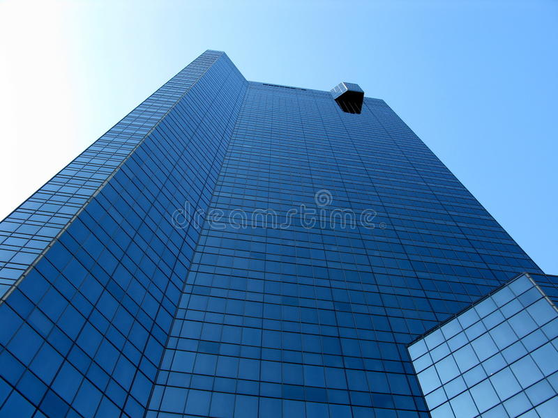 Fort Worth Skyscraper. Low angle shot of a glass window skyscraper in Fort Worth, TX stock photos