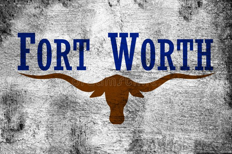 Fort Worth Texas. Grunge and dirty flag illustration. Perfect for background or texture purposes stock illustration