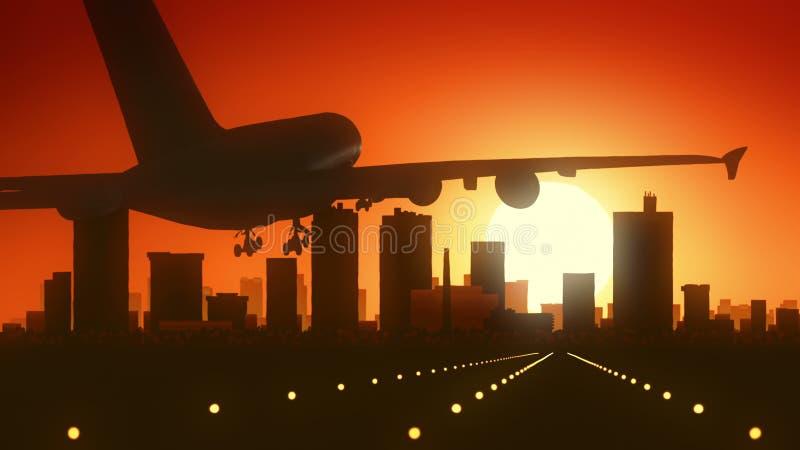 Fort Worth Texas USA America Skyline Sunrise Landing royalty free stock photography