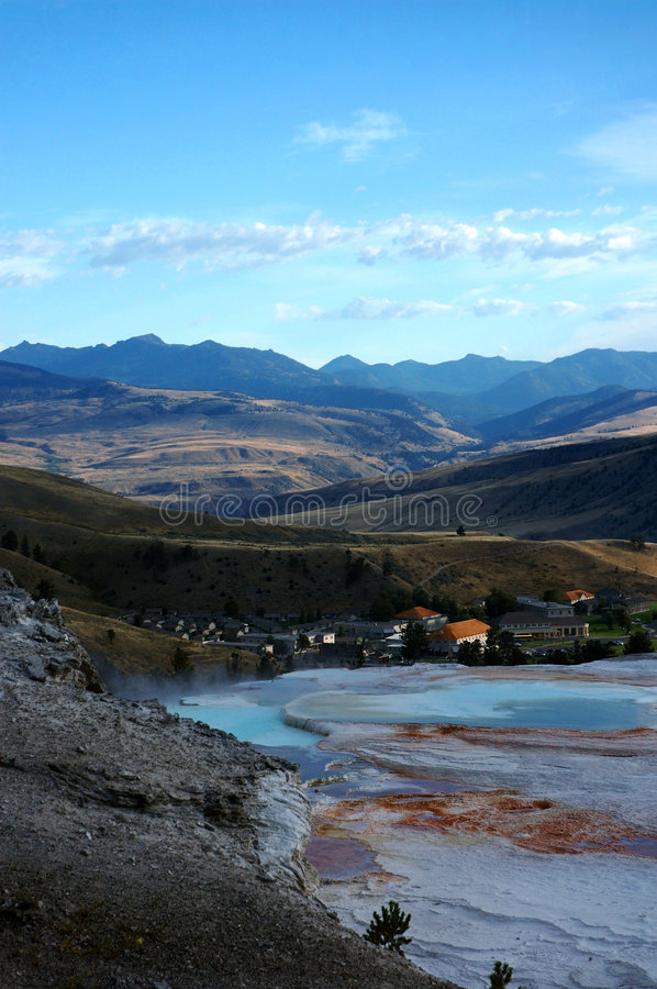 Fort Yellowstone from Mammoth Hot Spring Terraces