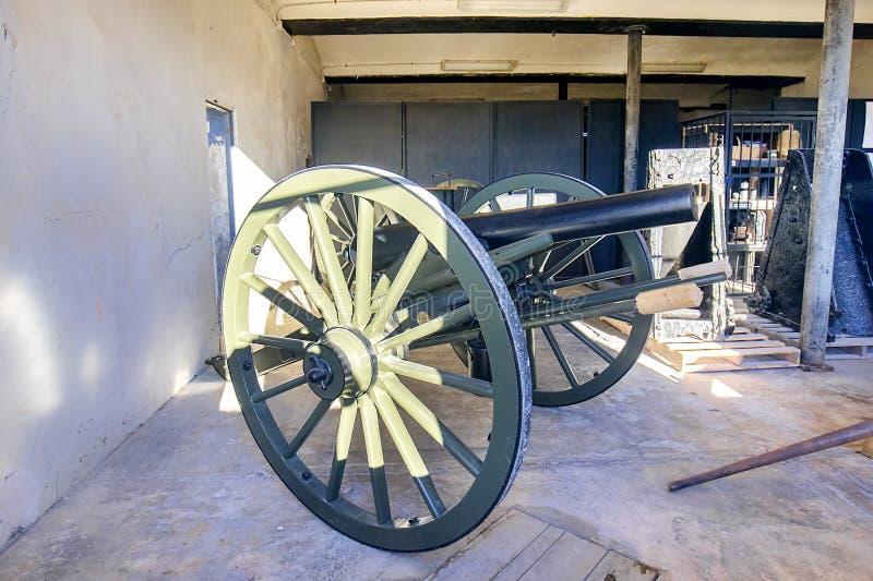 Fort Zachary Taylor Cannon royaltyfria bilder