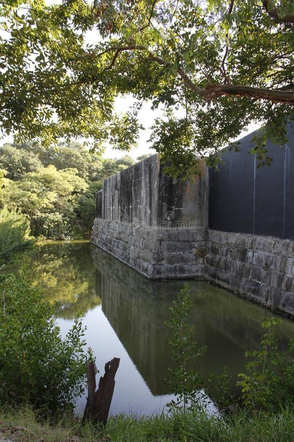 Fort Zachary Taylor Moat am nationalen historischen Nationalpark, Key West, Florida, USA lizenzfreie stockbilder
