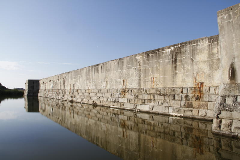Fort Zachary Taylor Moat am nationalen historischen Nationalpark, Key West, Florida, USA stockfoto
