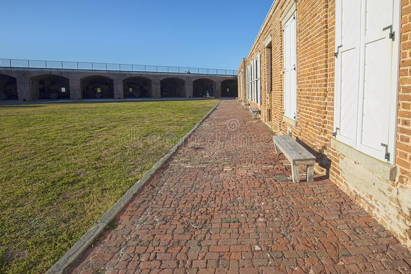 Fort Zachary Taylor Old Brick Foot Path stock fotografie