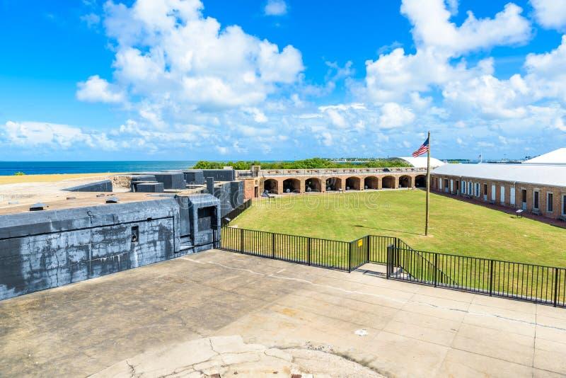 Fort Zachary Taylor Park, Key West delstatspark i Florida, USA arkivfoton