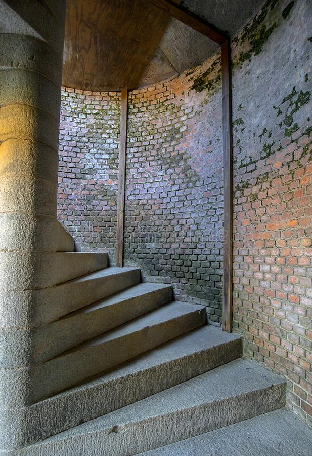 Fort Zachary Taylor Stairwell royaltyfri fotografi