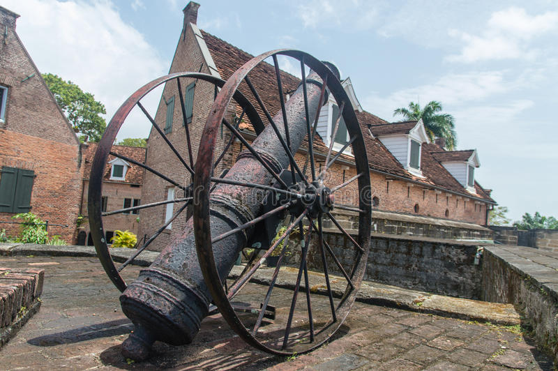 Fort Zeelandia. Is a fortress in Paramaribo, Suriname, that was built by British colonists (originally called Fort Willoughby) in 1651 around a small trading stock photos
