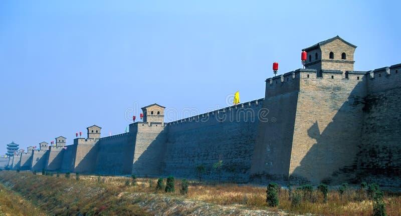 Fortalecimiento de la ciudad vieja de Pingyao - China imagenes de archivo