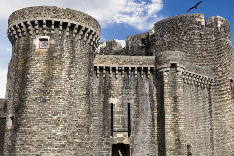 Fortalecimiento: Entrada principal de la fortaleza en Brest, Francia fotografía de archivo libre de regalías