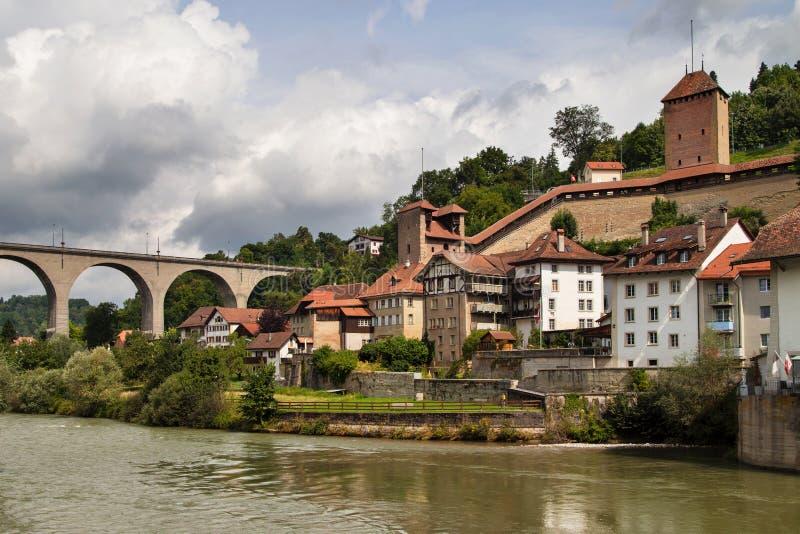Fortalecimientos de Fribourg fotos de archivo